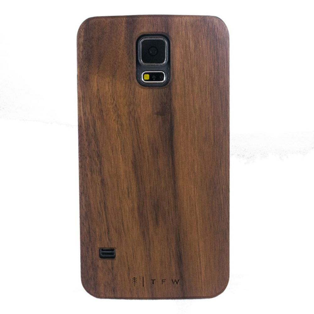 Samsung S5 walnut wood