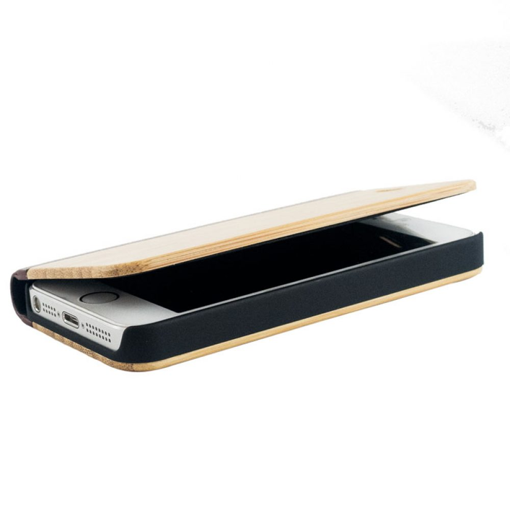 Wooden Oriano Flip Cover Iphone 55s