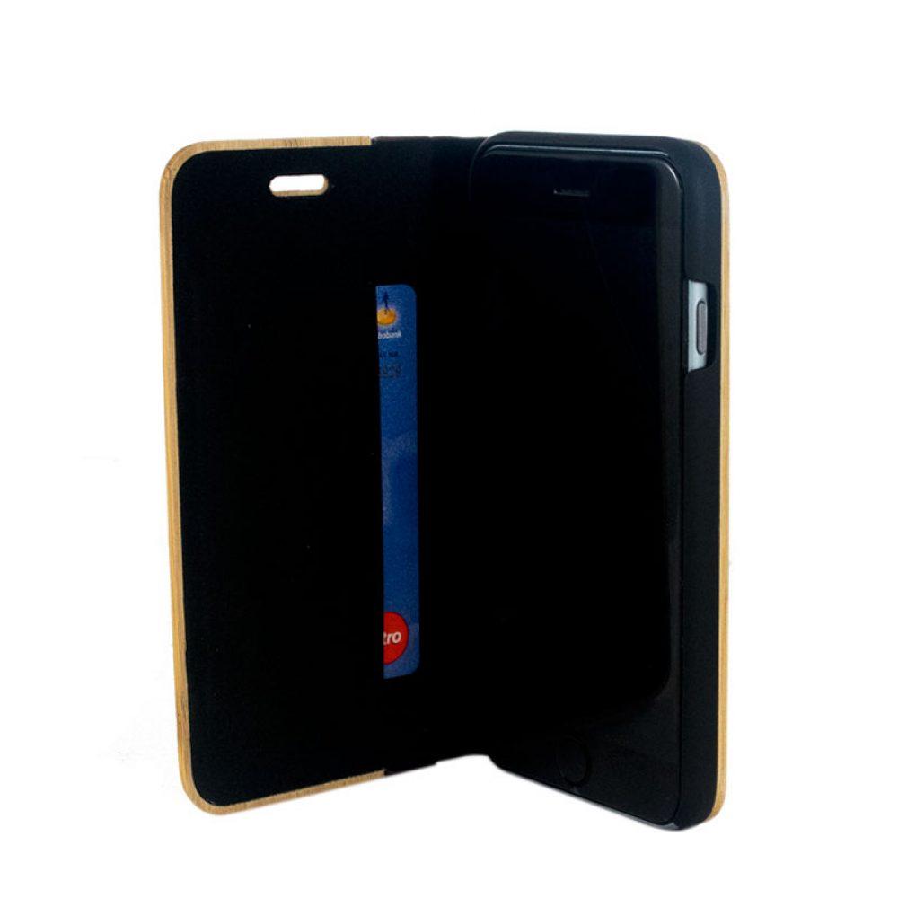 wooden flip case
