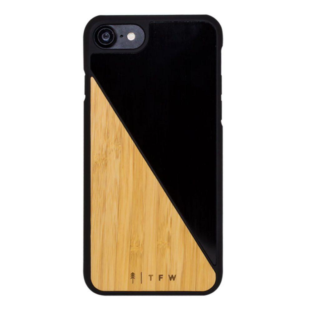 Bamboo + aluminium phone case