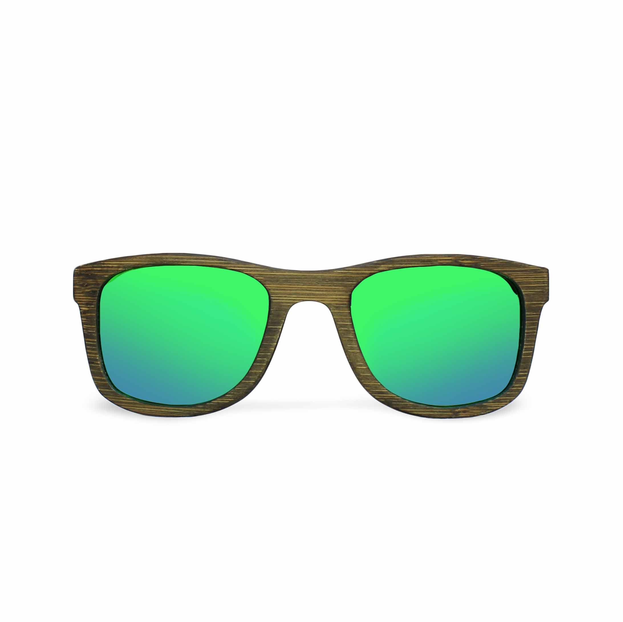 2867d87c14bfba Wooden Glasses - Murielo Green Mirror