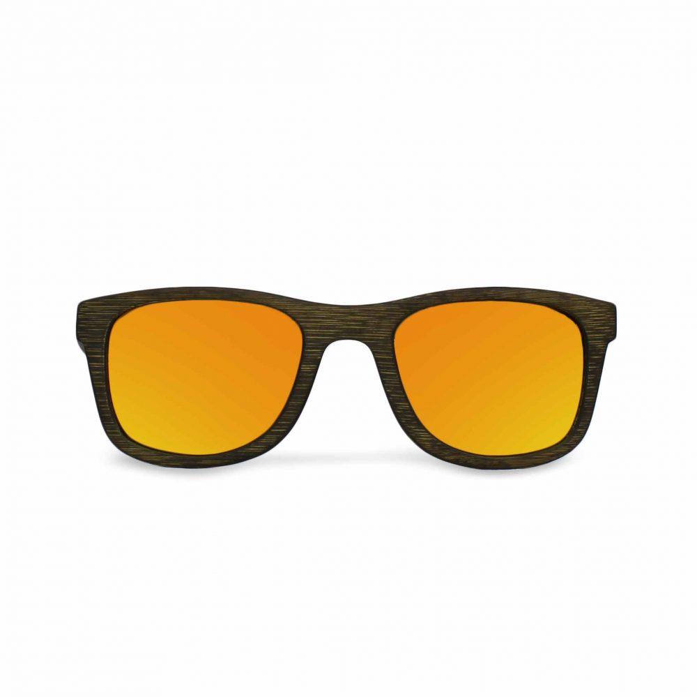 Mirror lenses wooden sunglasses