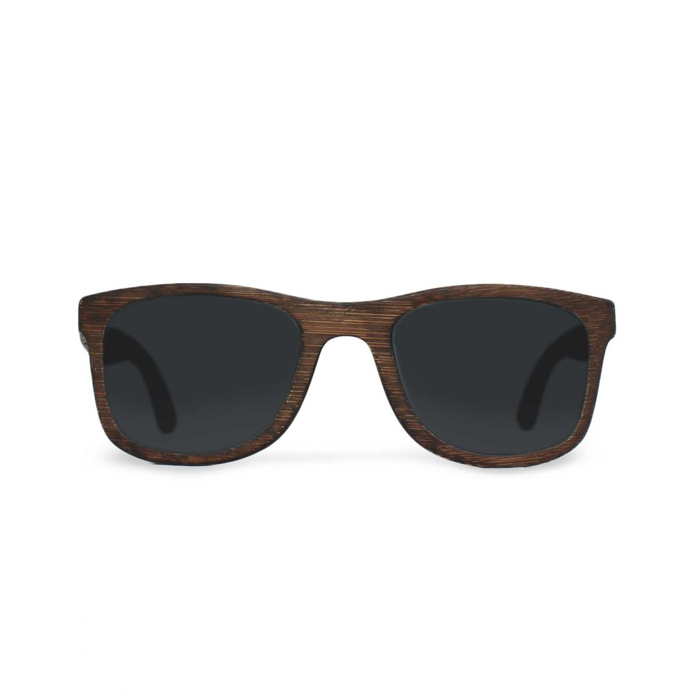 Wooden sunglasses made by hand