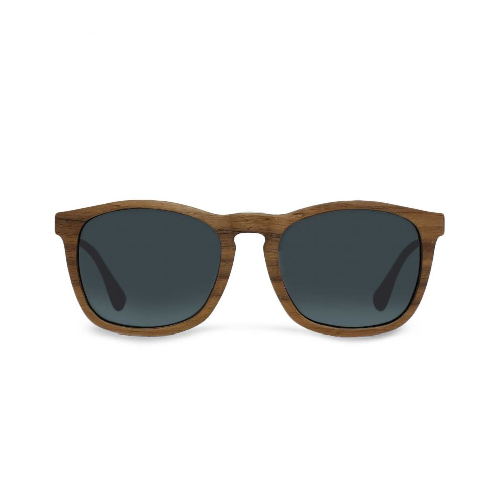Walnut wooden sunglasses for men