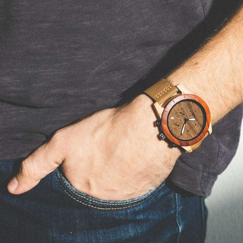 Oligo wooden watch