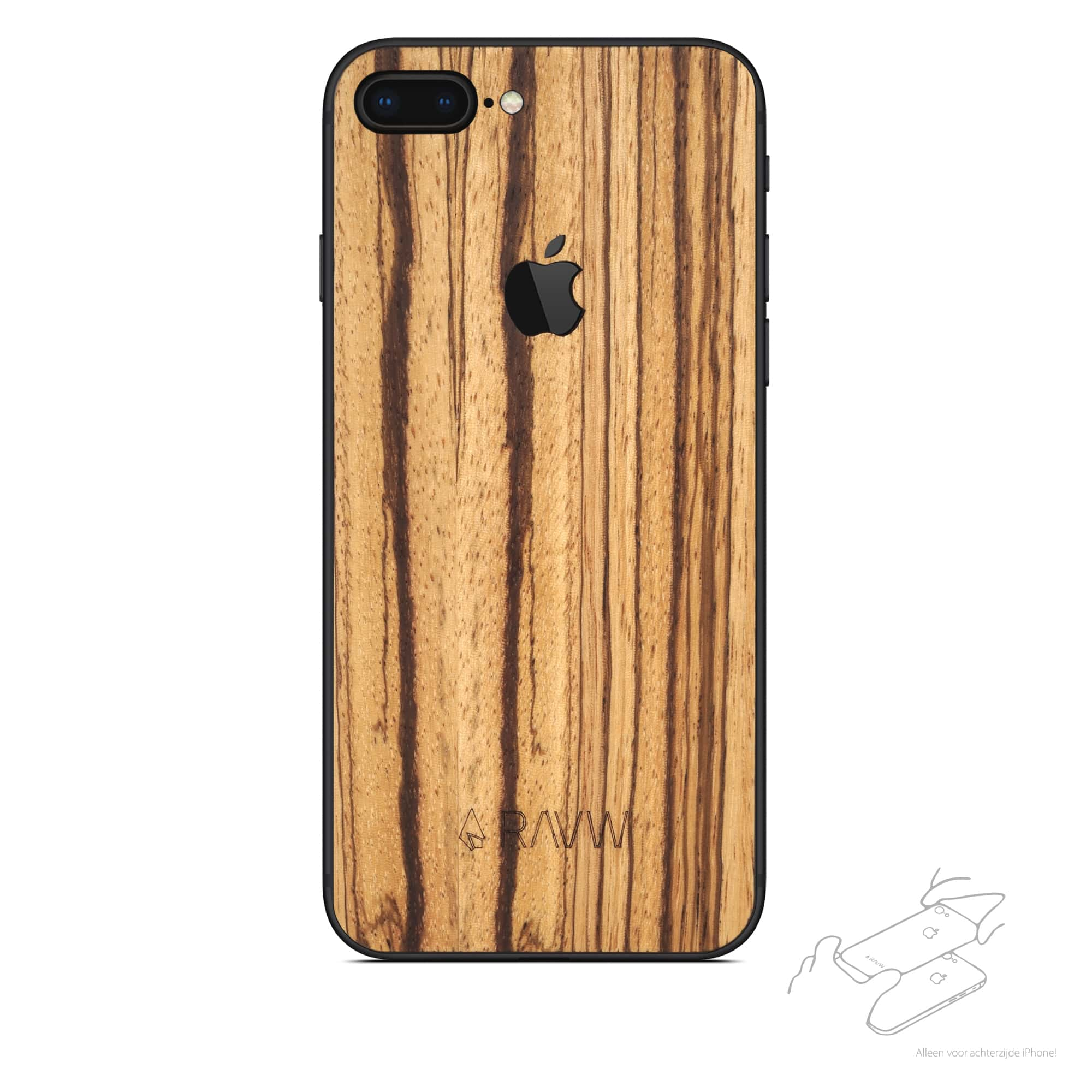 Rauw Cover - iPhone 8 Plus - Time For Wood
